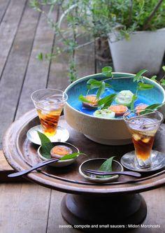 和菓子『杏の水羊羹 Anzu-no-Mizuyokan』agar sweets flavored with apricot ★styling / photo / sweets : Midori Morohoshi http://ameblo.jp/greenonthetable/imagelist.html