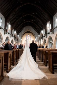 Wedding Photos by Saint Louis Wedding Photographer, Ashley Fisher Photography, Bride walking down the aisle at St. Luke The Evangelist Catholic Church Wedding Ceremony in St. Louis, MO