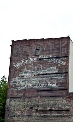 Ghost sign, Pioneer Square, Seattle