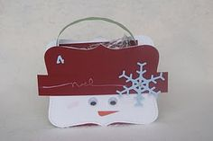 Little tote Christmas box (stampin up punch used for outsides).