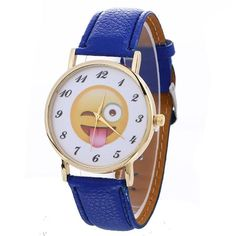 2017 New Women Watches Cute Emoji Fashion Casual Quartz Watch Female Clock PU Leather Bracelet Watch relogio feminino #63