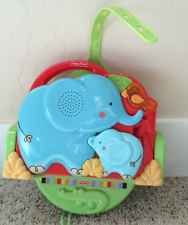 FISHER PRICE LUV U ZOO CRIB N' GO PROJECTOR SOOTHER BABY ELEPHANTS MIRROR MUSIC