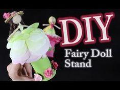 DIY Fairy Doll Stand by Untidy Artist- Emillie Lefler- for fairy doll stand tutorial. Diy Doll Stand, Doll Stands, Fairy Crafts, Doll Crafts, Kid Crafts, Diy Fairy Wings, Sleeping Beauty Fairies, Autumn Fairy, Spring Fairy