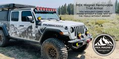 Use MEK Magnet Removable Trail Armor and protect your Jeep from scrapes and scratches in the trails. Jeep, Magnets, Monster Trucks, Trail, Adventure, Jeeps, Adventure Movies, Adventure Books