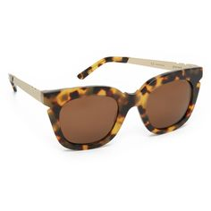 Pared Pools & Palms Sunglasses (€190) ❤ liked on Polyvore featuring accessories, eyewear, sunglasses, tortoise shell sunglasses, tortoise glasses, round tortoise sunglasses, polarized sunglasses et tortoiseshell glasses