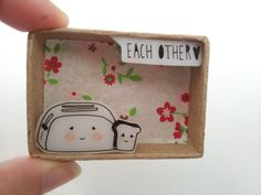 Made For...Each Other Matchbox Diorama by ShyLilyandDakota on Etsy, $16.00