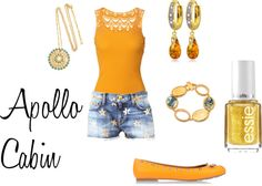 """""""Apollo Cabin"""" by shadowphoenix on Polyvore ---> To me this is something Annabeth might wear."""