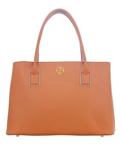 Look at this Segolene En Cuir Cognac Corine Leather Tote on #zulily today!