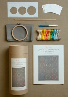 Learn to Embroider a Sampler Kit from Purl Soho: Whether this is the first time you're picking up a needle and floss, or you're looking to add more stitches (and inspiration!) to your collection, Purl Soho's Learn to Embroider a Sampler Kit has everything you need to get started!!