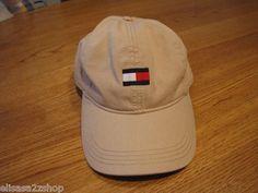 Men s Tommy Hilfiger cap hat khaki tan logo 009 7812175 NEW NWT TH Designer  Caps d7405c6a3a6e
