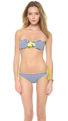 Pin for Later: The Bikini You Wanted All Summer Is Now on Sale Splendid Striped Bikini Splendid Malibu Stripe Bandeau Bikini Top ($32, originally $64) and Bottom ($29, originally $48)