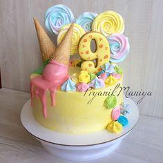 Торт с рожком Рожок Детский торт Торт для девочки