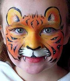 simple tiger face paint - Google Search