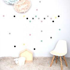 80 stickers de 3 cm de diamètrevinyle glossy, convient à toutes surface lisse : murs, métal, platique, vitres.fabriqué en France
