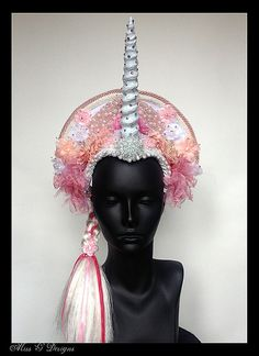 MADE TO ORDER Unicorn Princess Headdress by MissGDesignsShop, $385.00