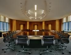 The meeting table of the Board of Directors of Total, Courbevoie, France, 12 December 2009 (Jacqueline Hassink) Meeting Table, Oval Table, Wallpaper Magazine, Take A Seat, Interior Design, Design Interiors, Furniture, Home Decor, France