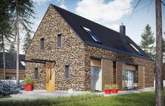 EX 15 II to dom, który wydobywa to, co najcenniejsze z tradycji i w nowoczesny sposób eksponuje symbiozę z naturą. Prosta forma z dwuspadowym dachem łączy szlachetność surowego kamienia z ciepłą urodą drewna. EX 15 II to doskonała propozycja dla inwestorów, którzy marzą o świetlistych przestrzeniach i architekturze otwartej na piękno otaczającego krajobrazu.
