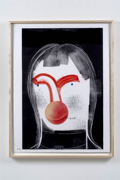 "Nicole Eisenman, ""Untitled"", Monoprint on paper, 29 x 22 (frame 31 x 24 Bard College, The New Yorker, Miami Beach, Santa Monica, New York Times, Painting Inspiration, Art Inspo, Art Basel, San Diego"