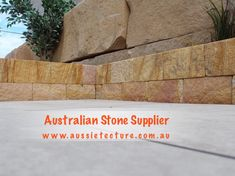 Aussietecture natural stone supplier has a unique range natural stone products for walling, flooring & landscaping. Sandstone Cladding, Sandstone Wall, Sandstone Paving, Natural Stone Wall, Natural Stones, Stone Supplier, Wall Cladding, Logs, Bricks