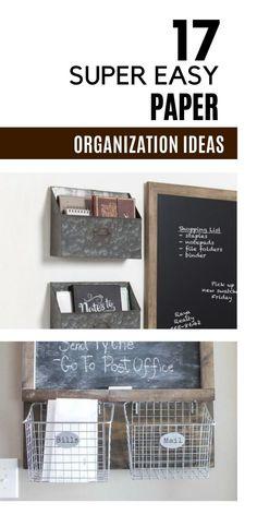 Clutter Organization, Paper Organization, Organizing Tips, Office Organization, Organizing Your Home, Document Safe, Paper Clutter, Tidy Up, Getting Organized