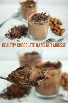 Nutella Coconut Hazelnut Chocolate Mousse Recipe Nutella Coconut Hazelnut Chocolate Mousse RecipeBy / September 2019 September to make an easy healthy chocolate mousse wit Mousse Au Nutella, Healthy Chocolate Mousse, Chocolate Hazelnut, Vegan Sweets, Vegan Snacks, Vegan Desserts, Vegan Recipes, Free Recipes, Mouse Recipes