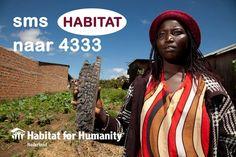 #IWD2016, Internationale vrouwendag: een dag waarop we de strijdbaarheid van vrouwen vieren. En een dag waarop Habitat stil staat bij de achtergestelde positie van vrouwen. Zo kunnen vrouwen in veel landen geen beroep doen op hun landrechten. Wanneer je als vrouw je man verliest, verlies je ook je grond en woning. Gezinnen raken hun thuis kwijt en komen op straat te staan…  Sms HABITAT naar 4333 en doneer eenmalig €3. Met jouw steun bouwen we samen aan een beter leven, ook voor deze vrouwen.