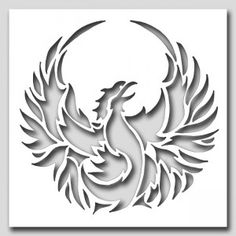 Phoenix Bird Stencil - - Phoenix Bird Stencil What size? Read How Stencil Sizes are Determined What material? Read the Materials Guide. Skull Stencil, Bird Stencil, Tattoo Stencils, Stencil Art, Skull Art, Tattoo Templates, Stencil Templates, Art Template, Stencil Designs