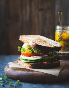 Tempeh BLTs with Kimchi, Avocado + Chipotle Mayonnaise {vegan option}