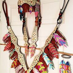 Amazing Neon Feather and Fringe Set by Wild Eye Ranch