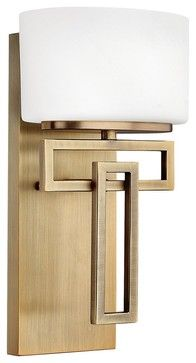 Contemporary Hinkley Lanza Brushed Bronze 12 High Wall Sconce - contemporary - wall sconces - Lamps Plus