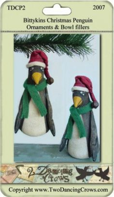 PatternMart.com ::. PatternMart: Bittykins Penguin Christmas Ornaments and Bowl fillers