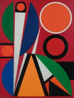 Auguste Herbin | Orphee, 1957 | Auguste Herbin (1882-1960) turned to abstraction in 1926 and was co-founder of the group Abstraction-Création 1931. Invented a system of abstract painting set out in his book L'Art Non-Figuratif Non-Objectif 1949. The pure geometrical shapes and positive colours of his later abstract works had considerable influence on various younger abstract painters. Was also active in the 1950s as a designer of tapestries.
