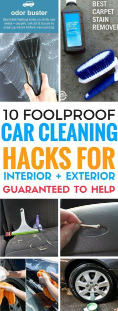 The BEST ways to clean your car that are easy, cheap and it actually WORKS. These car cleaning hacks include tips for cleaning both interior and exterior.