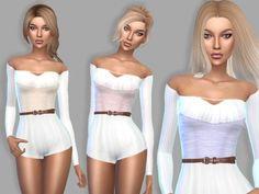 Cute bodysuit at Puresim via Sims 4 Updates