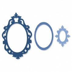 Sizzix Stanzer Framelits   Set 4tlg - Frame, Fancy Oval