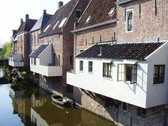 Hanging kitchens in Appingedam, the Netherlands