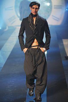John Galliano Spring 2011 Menswear  draped trouser