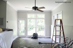 Behr Mineral paint (griege) - Ten June: Slate Room {Living Room} Makeover: Light, Bright and Freshly Painted!