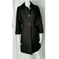 """Kenneth Cole pleated trench coat This coat is gorgeous!  It is pleated from the waist down all the way around. 3 large buttons on bodice & snaps inside bottom portion.  In EXCELLENT condition! Pit to pit across chest laying flat is approximately 15. 5"""" and shoulder to hem is approximately 34"""". Kenneth Cole Reaction Jackets & Coats Trench Coats"""