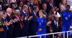 Antoine Griezmann (No 7) and Paul Pogba (No 15) were among the best in a French team.        Video. Winners of Euro 2016 celebrate their victory after final. ... 30  PHOTOS        ... EURO 2016 CHAMPIONS: Portugal!        Read original article:         http://softfern.com/NewsDtls.aspx?id=1106&catgry=6            SoftFern News, SoftFern Sport News, SoftFern Football News, Euro 2016, SoftFern videos, Ronaldo, final, Griezmann, Pepe, Portugal v France, Payet; Giroud, Evra; Pogba, Matuidi…