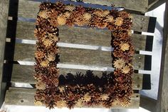Natural Pine Cone Wreath. Large Square or by NaturesCraftSupply