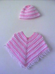 Girls Poncho and Hat CROCHET PATTERN 1 to 5 by TiggztooPatterns