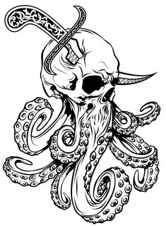 Illustration for T-shirt 02 Japanese Tattoo Symbols, Japanese Tattoo Designs, Japanese Tattoos, Art Drawings Sketches, Animal Drawings, Skull Drawings, Skull Illustration, Graphic Design Illustration, Brass Knuckle Tattoo