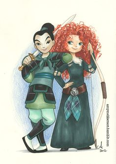 Badass Princesses. NYCC piece...two of my favorites!