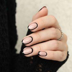 Black border nails feat. Dance Legend Hebe | Mari's Nail Polish Blog