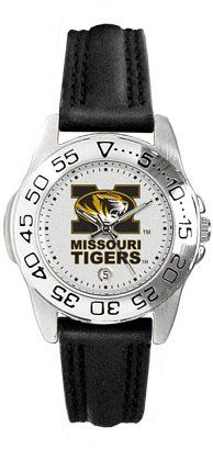 Missouri Tigers (University of)Ladies Leather Sports Watch by SunTime. $39.95