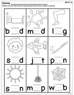 Short Vowel Practice Worksheets by Kathleen G's Kindergarten Vowel Worksheets, Kids Math Worksheets, Reading Worksheets, Alphabet Worksheets, Phonics Reading, Teaching Phonics, Preschool Learning Activities, English Worksheets For Kindergarten, First Grade Worksheets