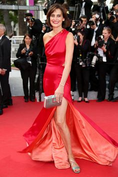 Ines de La Fressange attends the 'How To Train Your Dragon 2' premiere during the 67th Annual Cannes Film Festival on May 16, 2014 in Cannes...