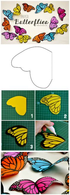 How To Easily Make Paper Butterflies