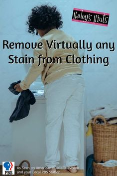 Remove Virtually any Stain from Clothing. Stubborn stain ruined your new top? Clean it easy with this clever method that removes stubborn stains in a flash.